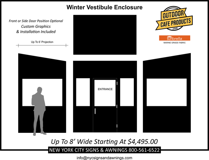 8' Wide Winter Vestibule Enclosure