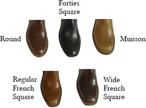 Beck Custom Toe Shapes