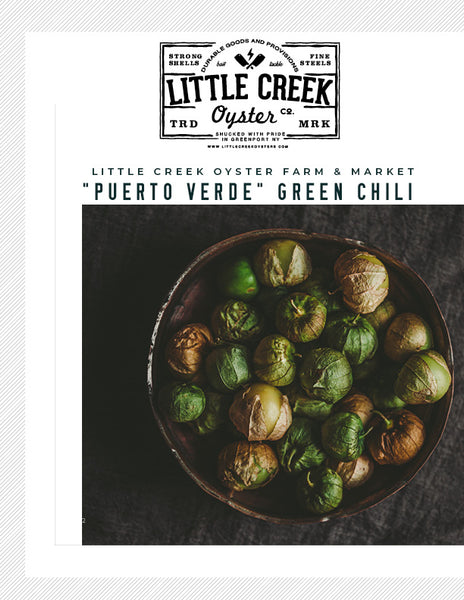 "Little Creek Oysters' ""Puerto Verde"" Green Chili Recipe - LITTLE CREEK OYSTER FARM & MARKET"