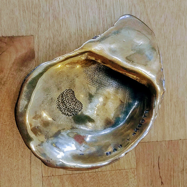Lazy Point Oyster Bronze Bottle Opener