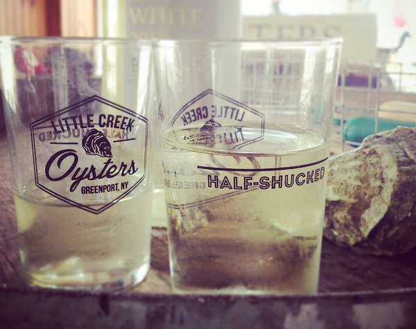 Half Shucked glasses (Set of 2) - LITTLE CREEK OYSTER FARM & MARKET