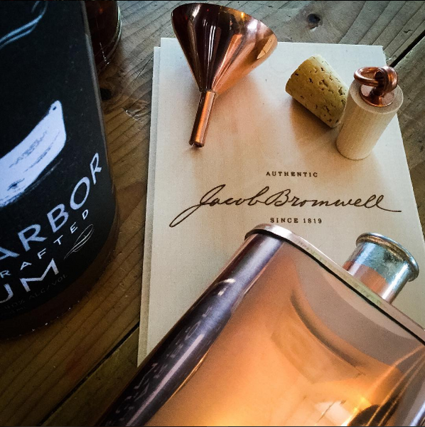 Great American Flask by Jacob Bromwell - LITTLE CREEK OYSTER FARM & MARKET