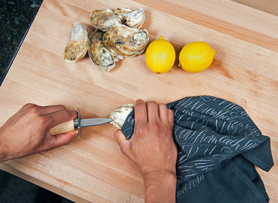 Moveable Feast Shucking Towel - LITTLE CREEK OYSTER FARM & MARKET