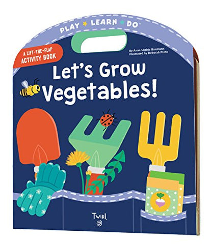 【機關繪本】 Let's Grow Vegetables! by Anne-Sophie Baumann