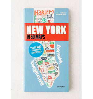 【旅行世界】地圖書 New York In 50 Maps