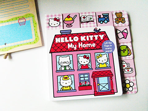 【硬頁翻翻書】HELLO KITTY: My Home Lift-The-Flap Tab