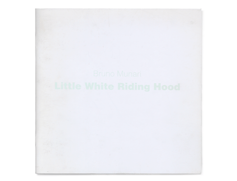 Little White Riding Hood, by Bruno Munari