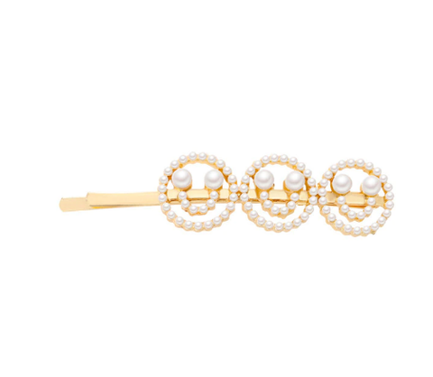 Pearl Happy-Face Hair Pin