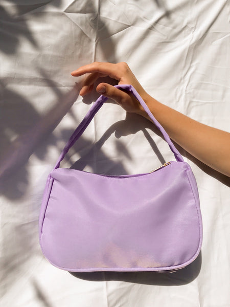 Chelsea Nylon Baguette in Lilac