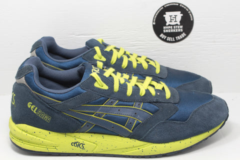 ASICS Gel-Saga Lime Navy