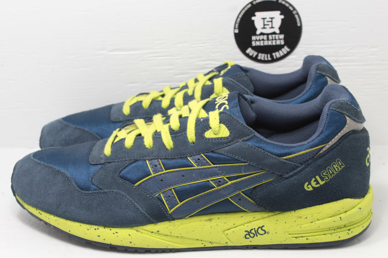 ASICS Gel-Saga Lime Navy - Hype Stew Sneakers Detroit