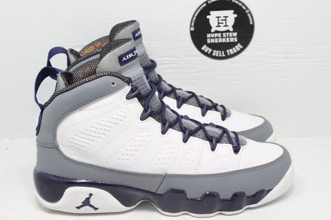Nike Air Jordan 9 White Purple 'Imperial Purple' GS