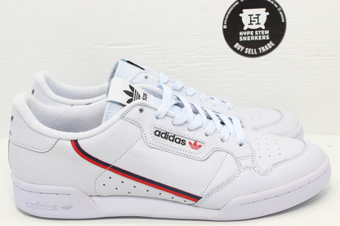 Adidas Continental 80 White Scarlet Navy