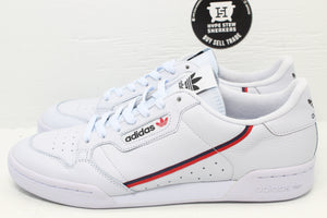 Adidas Continental 80 White Scarlet Navy - Hype Stew Sneakers Detroit