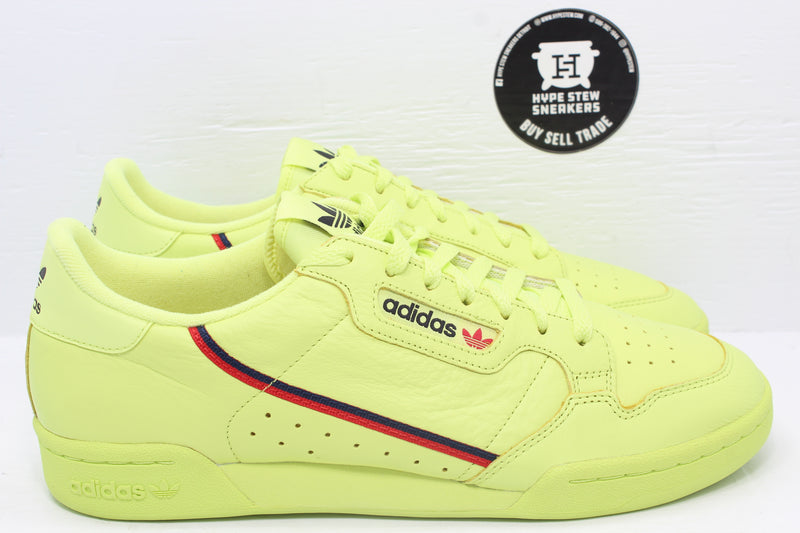 Adidas Continental Semi Frozen Yellow - Hype Stew Sneakers Detroit