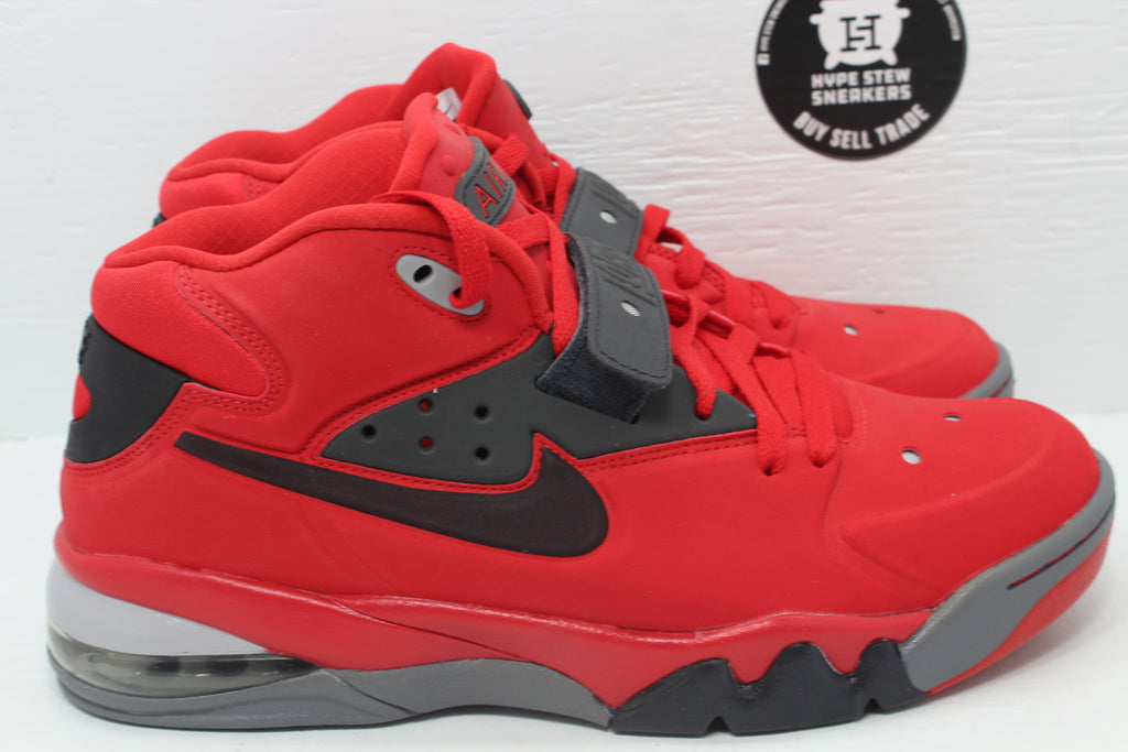 Nike Air Force Max 2013 University Red Black - Hype Stew Sneakers Detroit