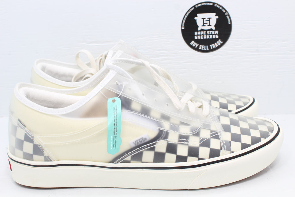 Vans ComfyCush Slip-Skool 'Checkerboard - White' - Hype Stew Sneakers Detroit