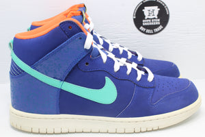 Nike Dunk High Deep Royal Blue Crystal Mint - Hype Stew Sneakers Detroit