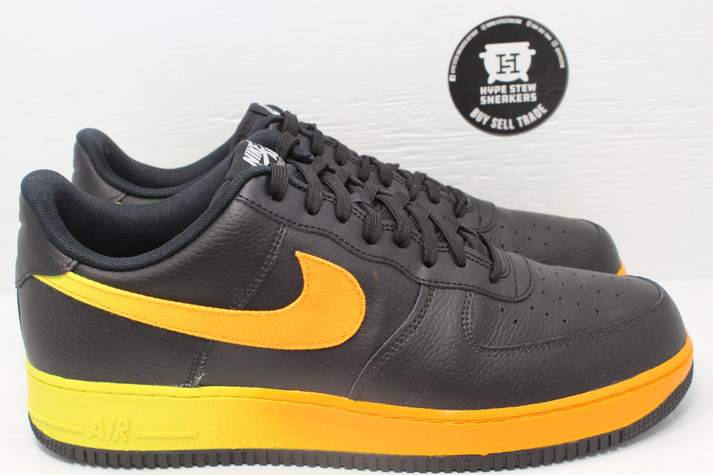 Nike Air Force 1 Low Black Yellow Orange Peel - Hype Stew Sneakers Detroit