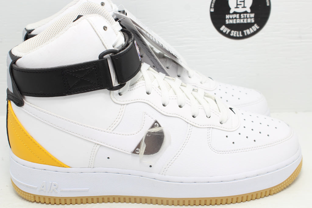 Nike Air Force 1 High NBA White University Gold Sample - Hype Stew Sneakers Detroit