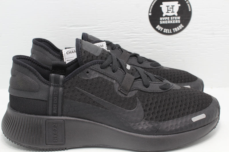 Nike Reposto Triple Black Sample - Hype Stew Sneakers Detroit