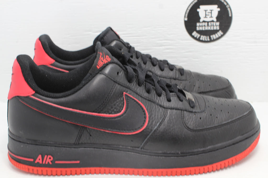 Nike Air Force 1 Low Black Action Red - Hype Stew Sneakers Detroit