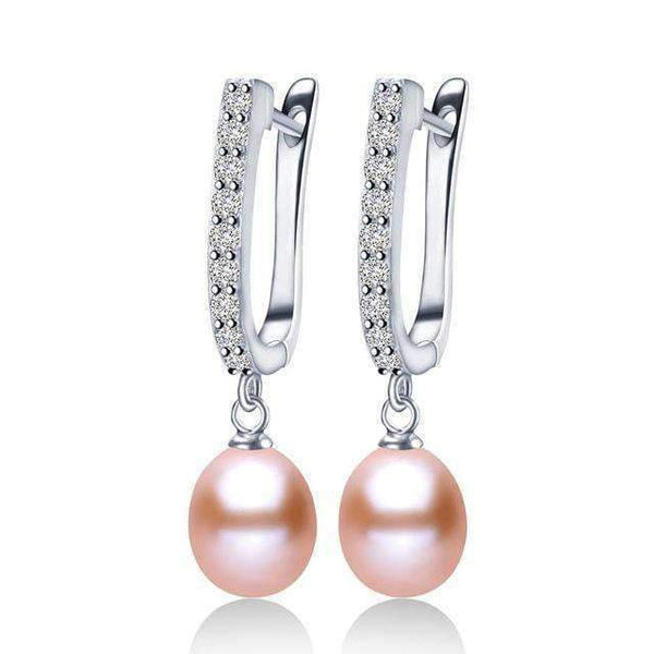 Drop Earrings 925 Sterling Silver Natural Pearl Earrings