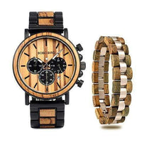 wooden watch Bobo Bird P09 Wood Watch & Bracelet Set