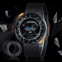 Watches Bobo Bird Q21 Skull Dial