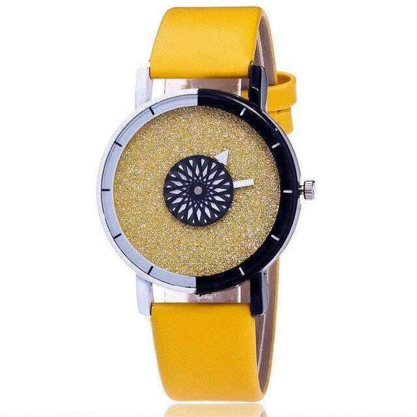 Watches Colorful and Shiny Fashion Watch with Leather Strap