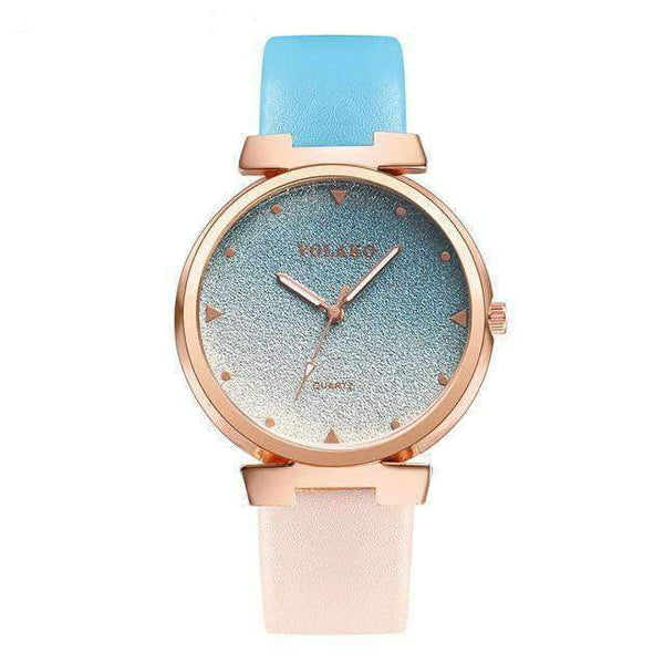 Watches Colorful and Stylish Watch with Leather Strap
