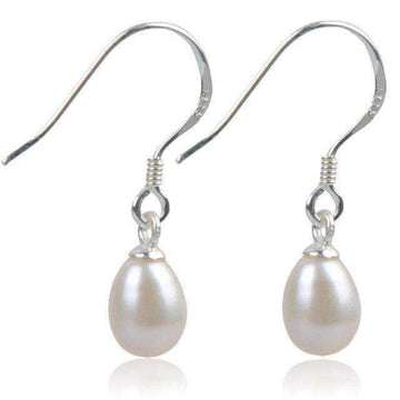Dangling 925 Silver Earrings with Sterling Nature Pearls