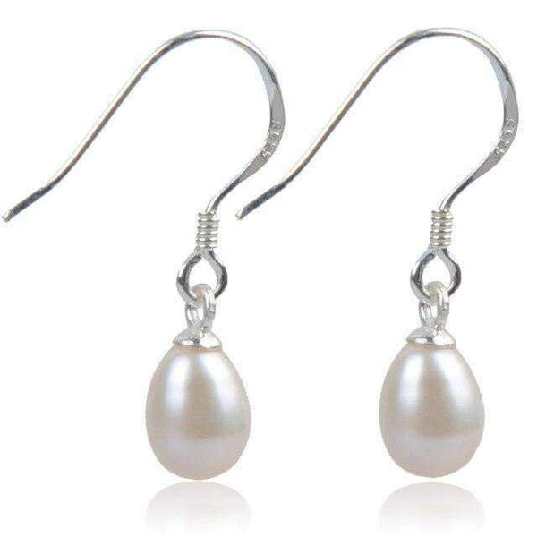 Drop Earrings Dangling 925 Silver Earrings with Sterling Nature Pearls