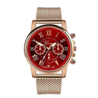 Watches Elegant Watch Quartz with PU Leather Strap