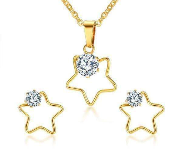 SETS Five Star Necklace and Earrings Set