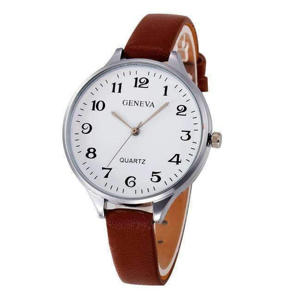 Gentle Classic Quartz Watch with Leather Strap
