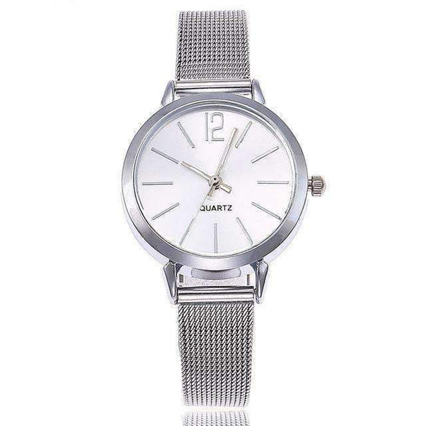 Watches Gold Sliver Mesh Stainless Steel Watches for Women