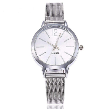 Gold Sliver Mesh Stainless Steel Watches for Women