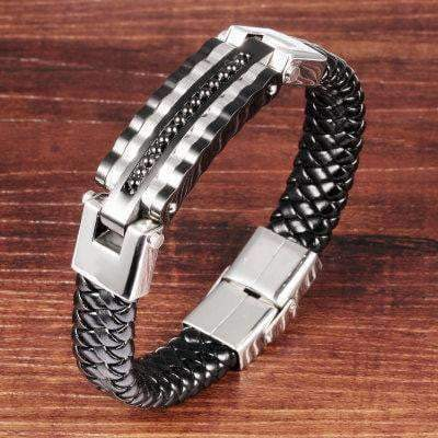Leather Bracelets Leather Bracelet with Chain Imitation