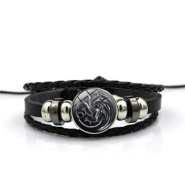 Leather Bracelets Leather Bracelets with Game of Thrones House Emblems