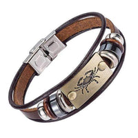 Leather Bracelets Leather Bracelets with Zodiac Signs