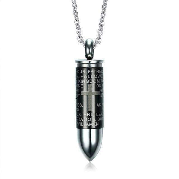Pendant Necklace Necklace with Bullet Pendant