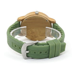wooden watch BOBO BIRD Bamboo Silicone Wristwatch W-B06