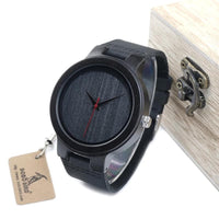 BOBO BIRD Ebony Red Pointer Wood Watch WC22