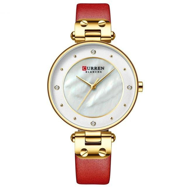 CURREN Simple Rhinestones Charming Watch for Ladies 9056