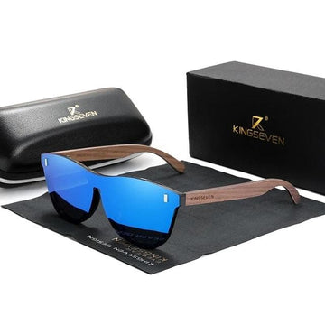 KINGSEVEN Exclusive Walnut Wooden Sunglasses W5510
