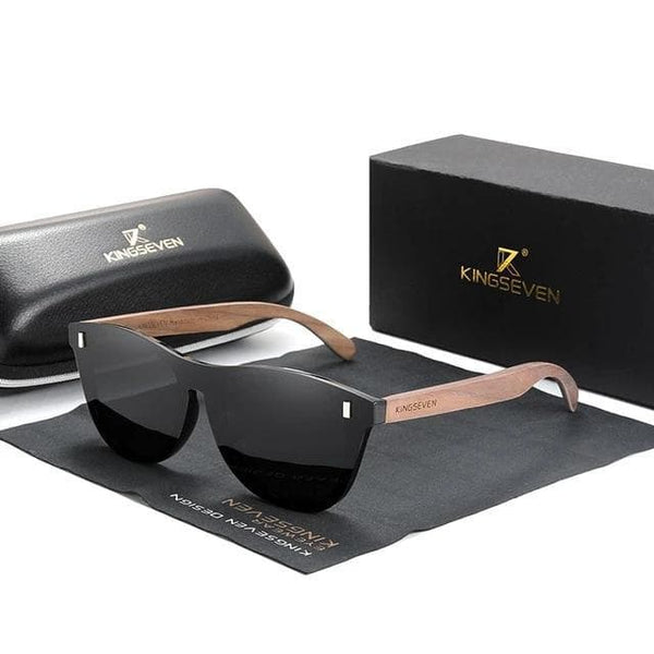 Sunglasses KINGSEVEN Exclusive Walnut Wooden Sunglasses W5510