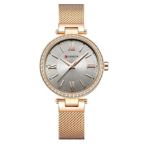 Watches CURREN Rose Gold Watch for Women 9011