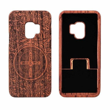 Wooden Phone Case for Samsung S9, S9 Plus with Constantine