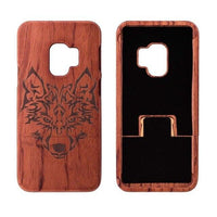 phone cases Wooden Phone Case for Samsung S9, S9 Plus with Wolf